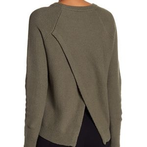 Madewell Green Province Crossback Knit Pullover